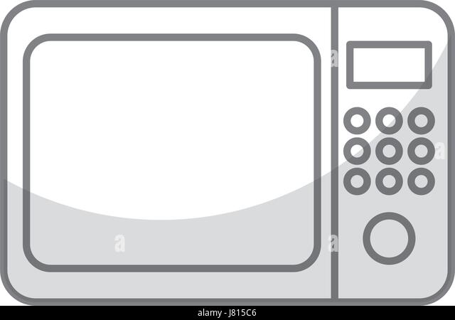 shadow microwave graphic design - Stock Image