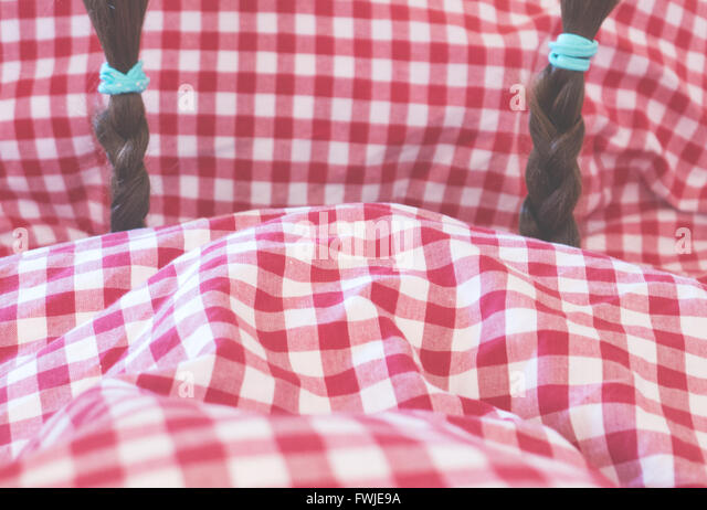 Close-Up Of Braids On Pillow - Stock-Bilder