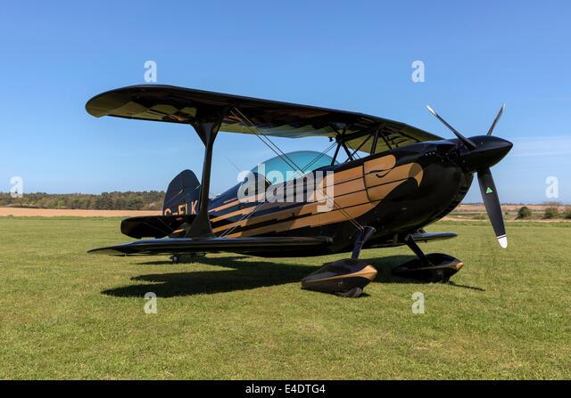 A Christen Eagle performance sports biplane - Stock-Bilder
