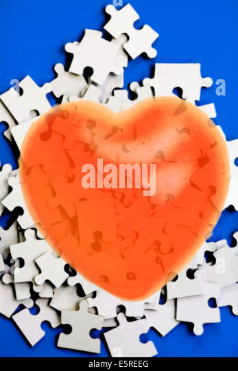 Conceptual image of heart attack. - Stock Image
