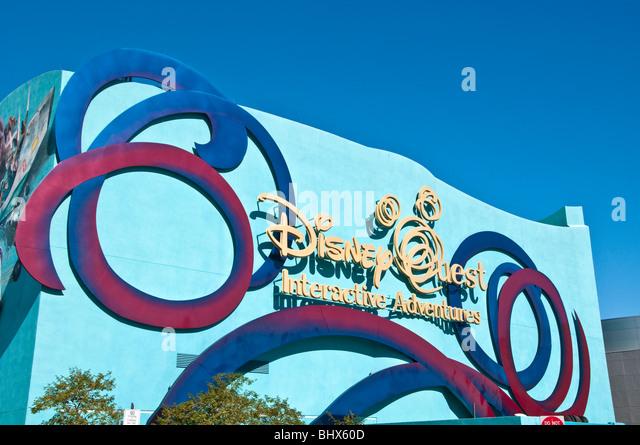 Disney Quest Interactive Adventures Downtown Disney  West Orlando Florida FL - Stock Image