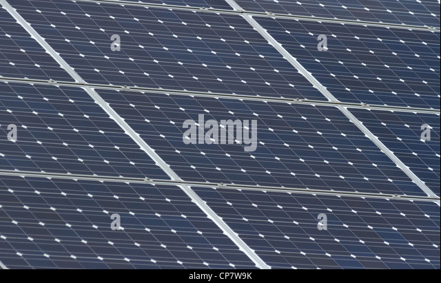 blue Solar Panel for background - Stock Image