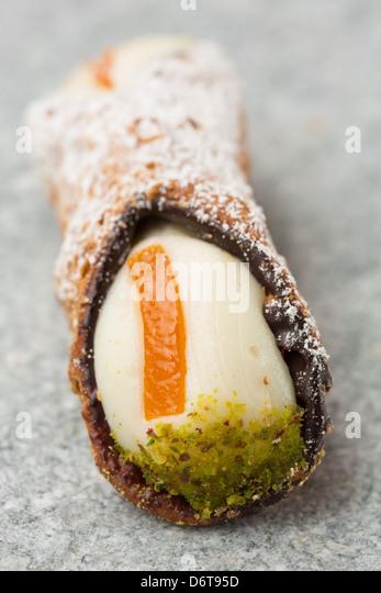 Sicilia cannolo - Stock Image