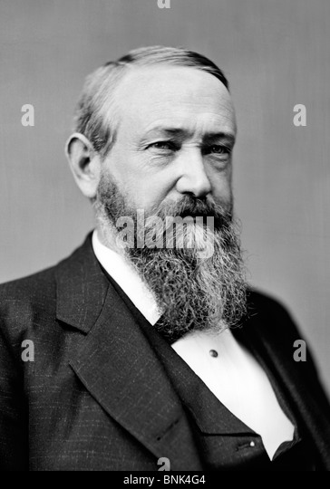 Portrait photo circa 1870s of Benjamin Harrison (1833 - 1901) - the 23rd US President (1889 - 1893). - Stock Image