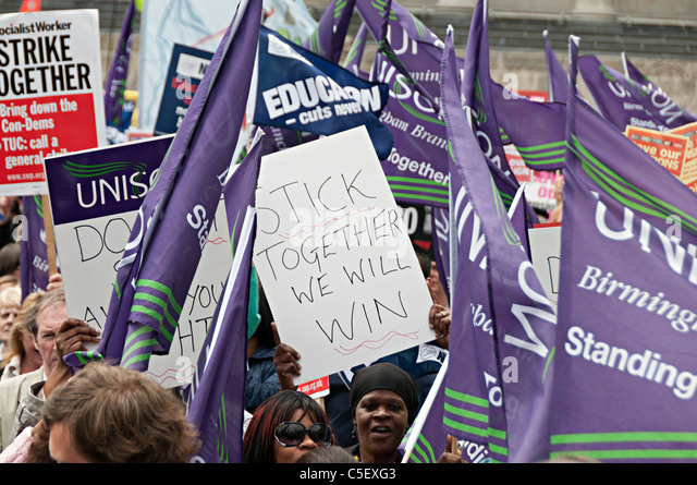 images from teacher strike organized by the but in Birmingham uk 2011 - Stock Image