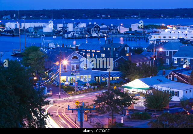 USA, Massachusetts, Martha's Vineyard, Vineyard Haven,  Main Street - Stock-Bilder