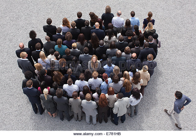Large group of business people - Stock-Bilder