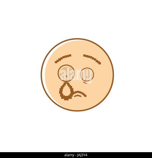 Cartoon Emoticon Crying Tears Isolated Stock Photos ...