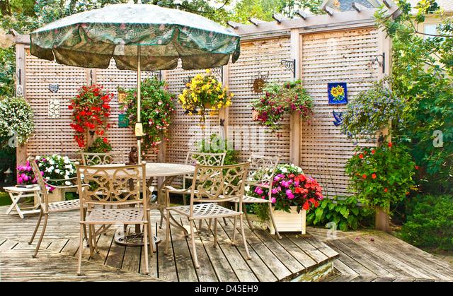 Garden patio - Stock Image