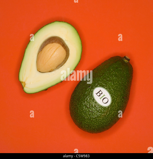 Organic Avocados, elevated view - Stock Image