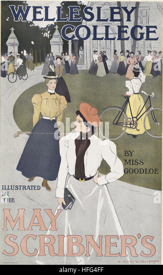 Wellesley College illustrated in the May Scribner's - Stock Image