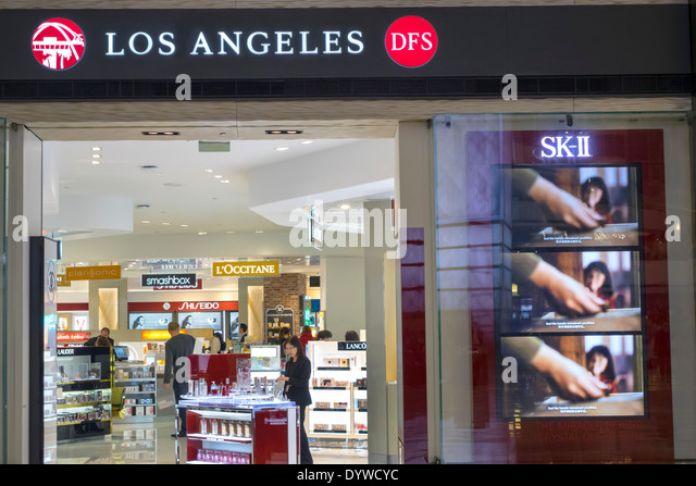 Los Angeles California CA LAX international airport Tom Bradley International Terminal concourse gate area TBIT - Stock Image