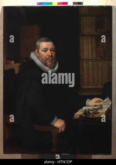 Jan Anthonisz van Ravesteyn kol.1570-1657 - Podobizna botanika - Stock Image