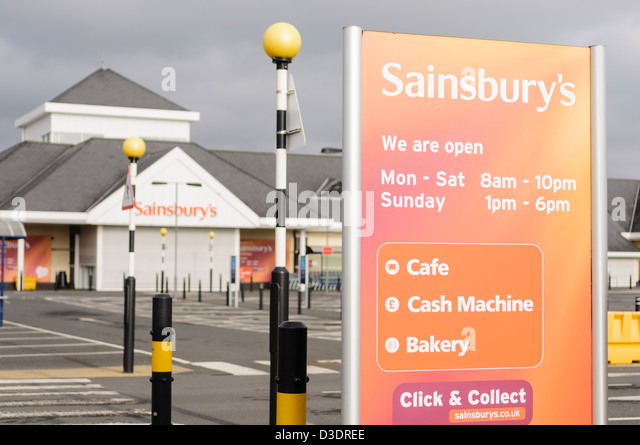sainsburys supermarket stock photos sainsburys. Black Bedroom Furniture Sets. Home Design Ideas