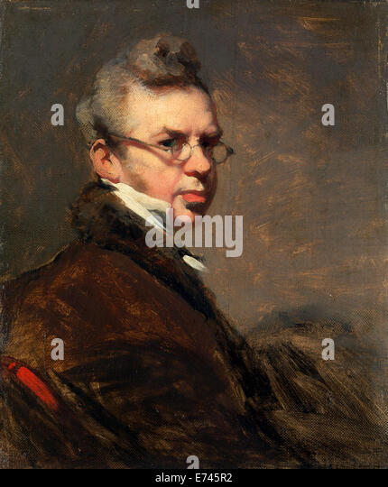 Self Portrait - by George Chinnery, 1828 - Stock Image