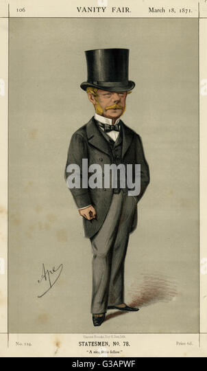 The Honourable Gerard James Noel (1823  1911), British Conservative politician.  Caption: 'A nice little fellow'. - Stock Image