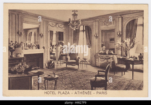Hôtel Plaza Athénée, Paris, France, Suite Living Room - Stock Image