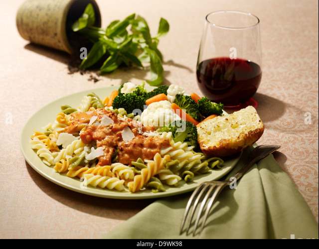 pasta penne - Stock Image