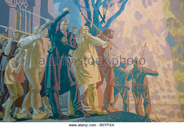 Chartists stock photos chartists stock images alamy for Chartist mural newport