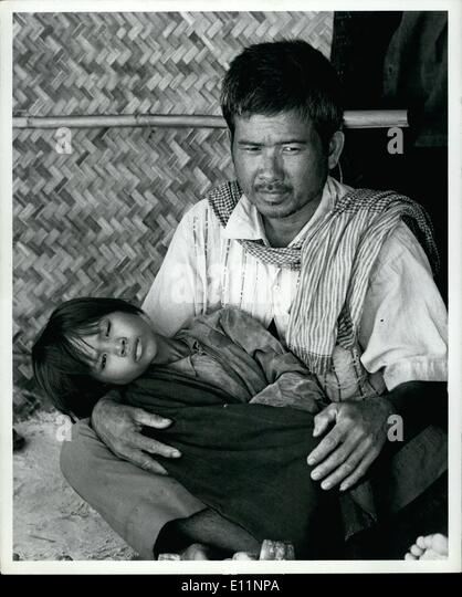 Jul. 07, 1979 - Coping with disaster refugees and displaced persons in South East Asia Klong Yai, Thailand, July - Stock-Bilder