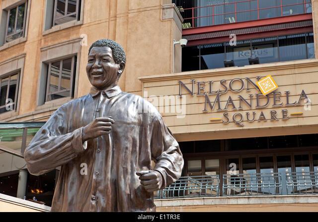 Nelson Mandela Square, Johannesburg, South Africa - Stock Image
