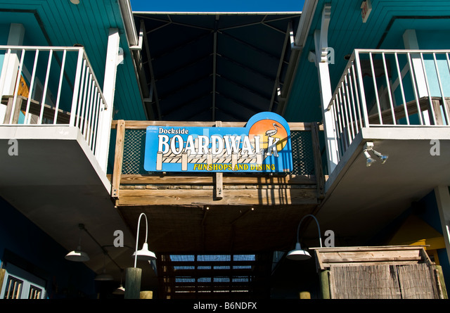 The Boardwalk Naples fl shopping 6th Avenue South - Stock Image