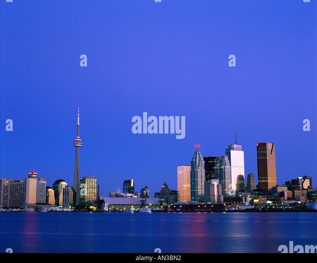 City Skyline & Harbourfront, Toronto, Ontario, Canada - Stock Image