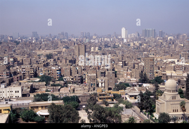 General view of Cairo Egypt from the Citadel - Stock Image