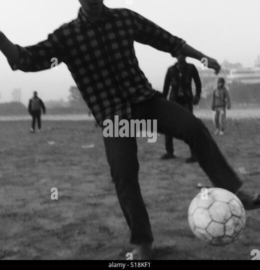 Footballer, Kathmandu, 2017 - Stock-Bilder