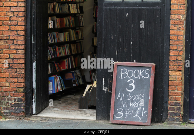 Secondhand Bookshop Sale Cheap Books - Stock Image