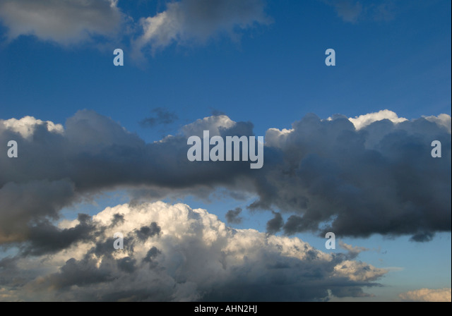 Storm clouds, Indre-et-Loire, France. - Stock Image