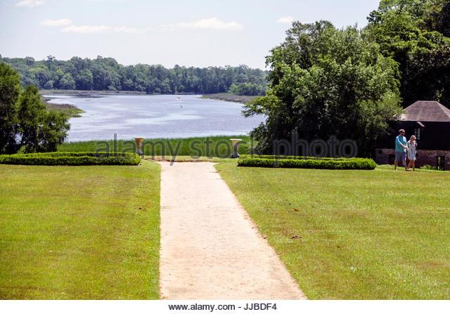 South Carolina Charleston SC Middleton Place National Historic Landmark Ashley River rice plantation antebellum - Stock Image