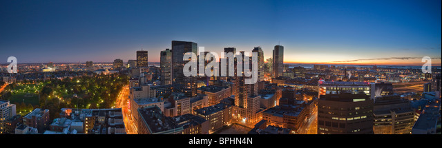 Buildings in a city, Tremont Street, Boston, Suffolk County, Massachusetts, USA - Stock Image