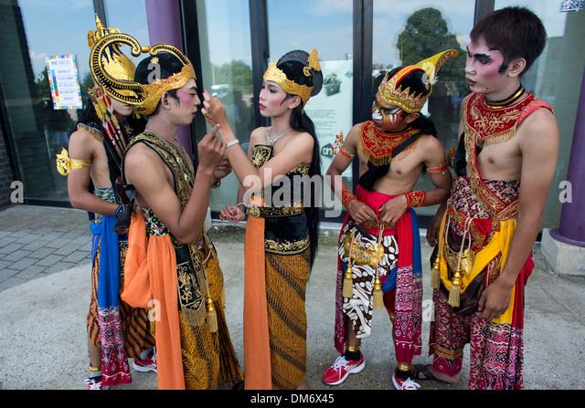 Indonesian Music band 'Gita Surosowan Banten' at the world music contest 2013 - Stock Image