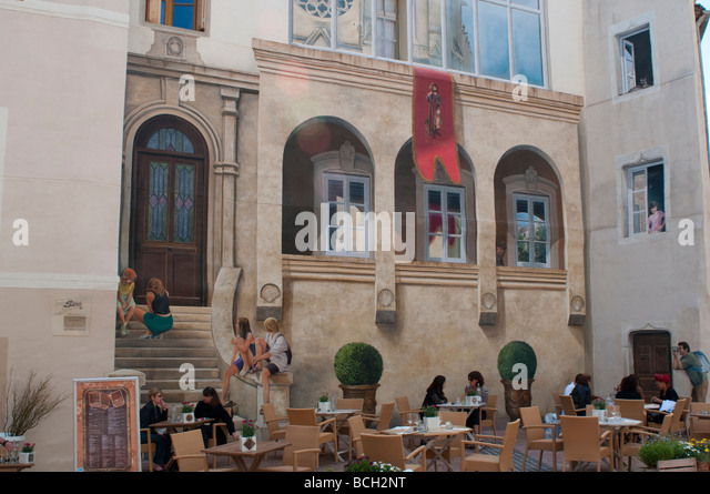 montpellier cafe stock photos montpellier cafe stock images alamy. Black Bedroom Furniture Sets. Home Design Ideas