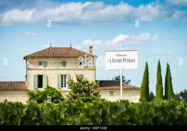 Château Lafleur-Petrus, Pomerol, France, EU, Europe - Stock Image