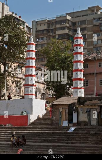 Banganga Tank Malabar Hill Mumbai Bombay India - Stock Image