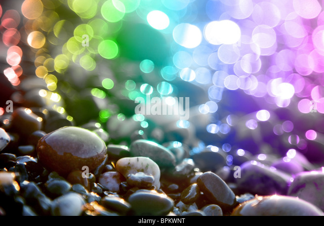 Background colored circles and marine stones. - Stock Image