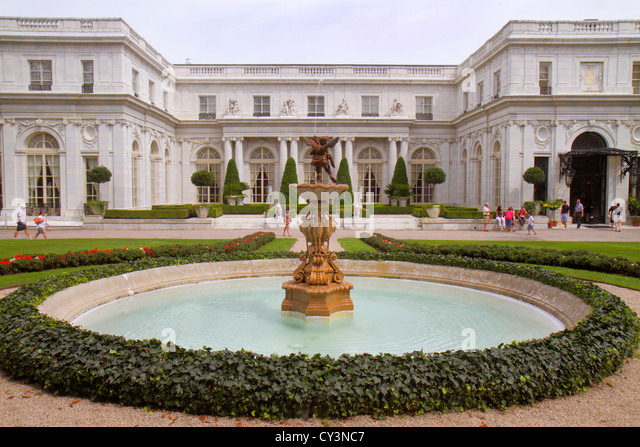 Rhode Island Newport Bellevue Avenue Rosecliff 1902 Vanderbilt Gilded Age mansions museum Newport Preservation Society - Stock Image