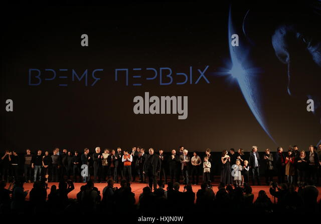 Moscow, Russia. 29th Mar, 2017. The Moscow premiere of Russian film director Dmitriy Kiselev's First Time drama - Stock-Bilder