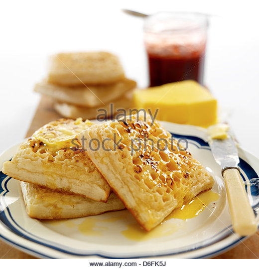 Crumpets - Stock Image