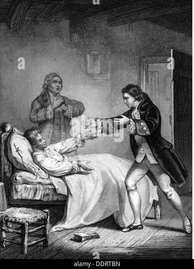 literature illustrations 'Die Familie Barencourt oder die Schule des Ungluecks' von Anna Brug after drawing - Stock Image