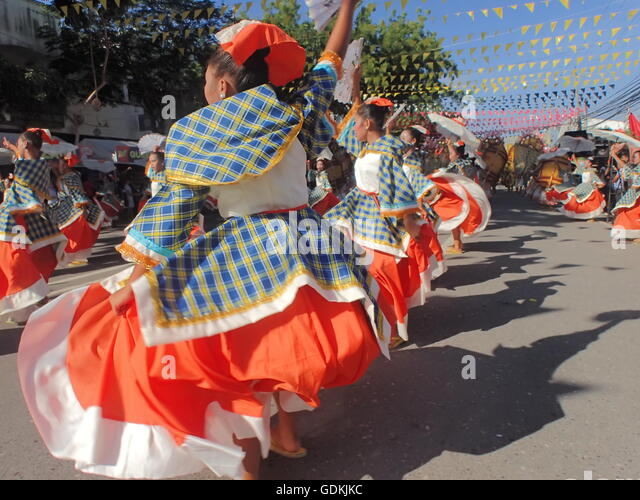 Koronadal, Philippines. 18th July, 2016. The 50th Golden Anniversary of South Cotabato in Mindanao culminates with - Stock Image