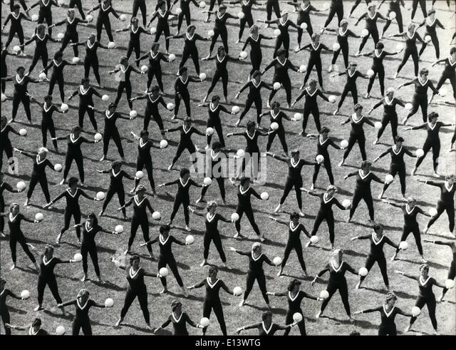 Mar. 27, 2012 - Closing ceremony of the women athletics. Charming pictures at the end of the women athletics in - Stock Image