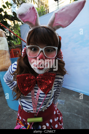 crazy clown , emotions and expressions , everyday life, bangkok story, bangkok, thailand - Stock-Bilder
