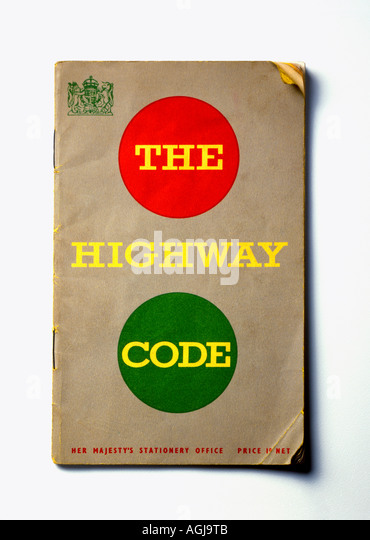 The Highway Code Book - Stock Image