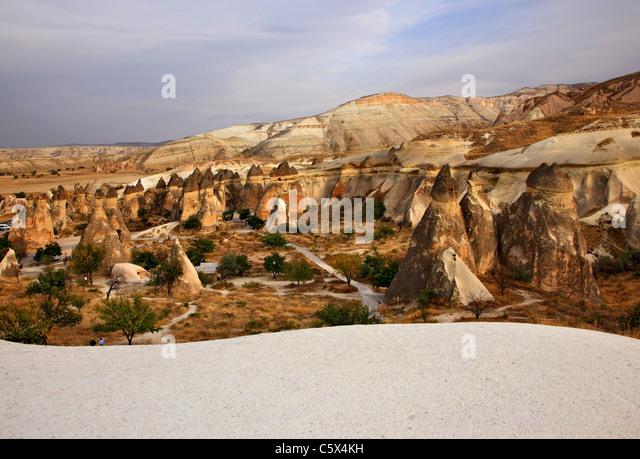 Fairy chimneys in Pasabag, Peribacalari Vadisi, Cappadocia, Turkey - Stock-Bilder
