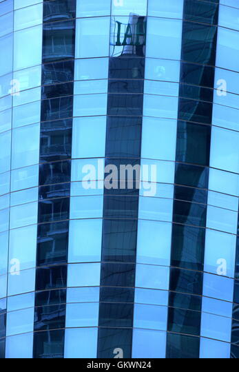 Thailand, Bangkok, glass building - Stock Image