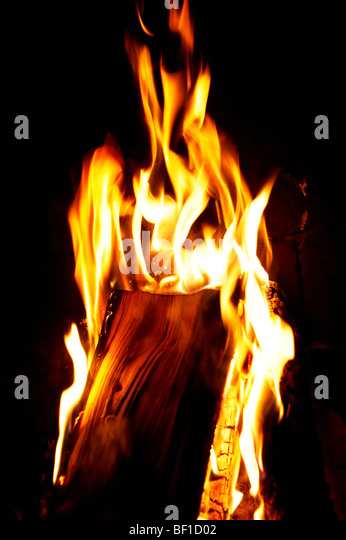A fire, Norway. - Stock Image