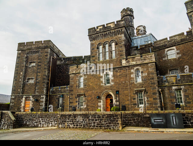 View of the Old Town Jail, Stirling, Scotland, United Kingdom - Stock-Bilder
